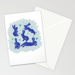 Bunny love - Blueberry edition Stationery Cards