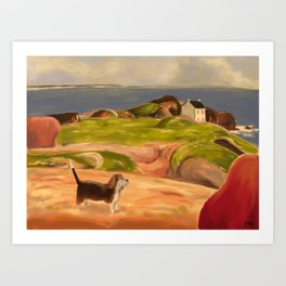 Country Beagle Art Print