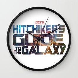 The Hitchhiker's Guide to the Galaxy   Inspired by Guardians of the Galaxy Wall Clock