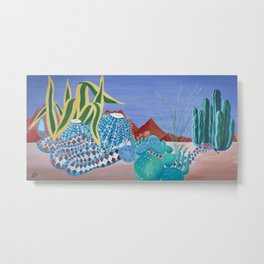 Desert Snake Metal Print
