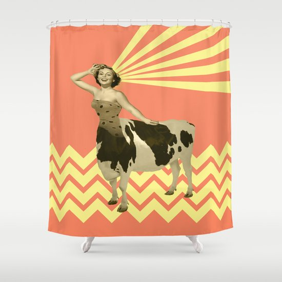 The real girly cow girl Shower Curtain