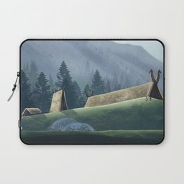 Viking Village in the Forest Laptop Sleeve