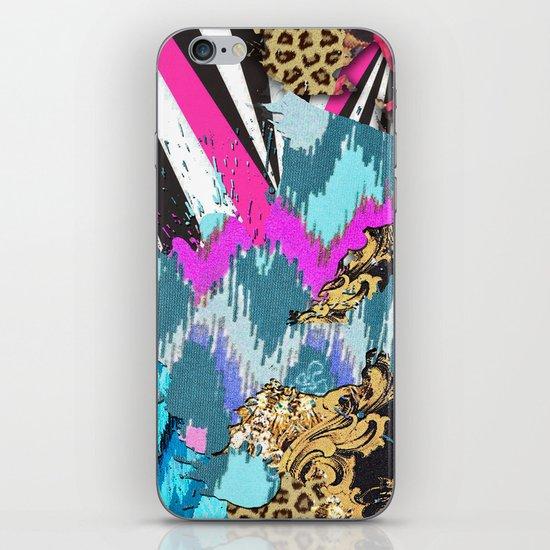 Fashion | Chic aztec pink teal zebra stripes leopard pattern iPhone & iPod Skin