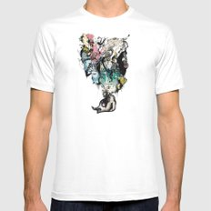 FatToy Idleness* MEDIUM Mens Fitted Tee White