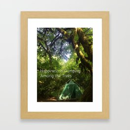 Camping Among the Trees Framed Art Print