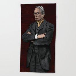 Portrait of an Illustrator - Rockwell Beach Towel