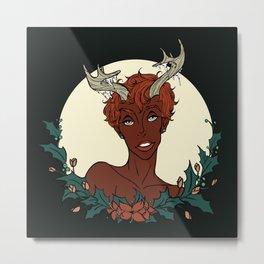 Holly Sprite (Rust/Sage) Metal Print