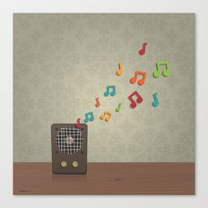 Speak To Me With Music Canvas Print