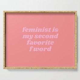 feminist Serving Tray