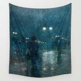 Fifth Avenue Nocturne - Frederick Childe Hassam Wall Tapestry