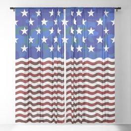 USA (Camouflage) Sheer Curtain