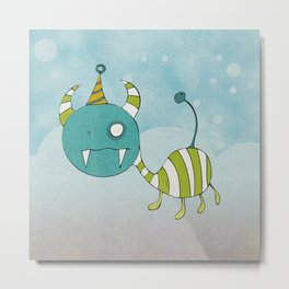Party-Animal in Bubbles II Metal Print