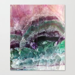 Pink & Green Watermelon Tourmaline Crystal Canvas Print