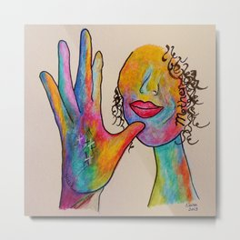 American Sign Language MOTHER Metal Print