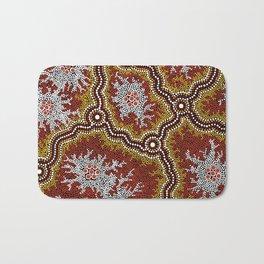 Aboriginal Art Authentic - Bushland Dreaming Ppart 2 Bath Mat