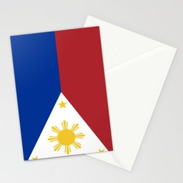 Philippines Flag (Vintage / Distressed) Stationery Cards