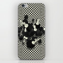 Chessboard and 3D Chess Pieces composition iPhone Skin