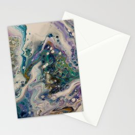 Peacock Flock - Abstract Acrylic Art by Fluid Nature Stationery Cards