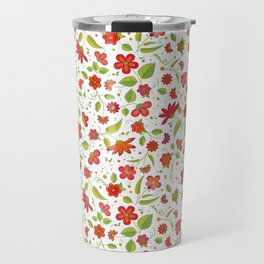 Ornate Floral Symphony (Day) Travel Mug