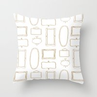 frames Throw Pillows featuring Frames by Sarah Liddell