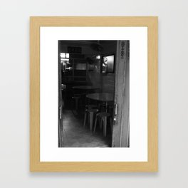 Street Photo - Old Home - Black and White Framed Art Print
