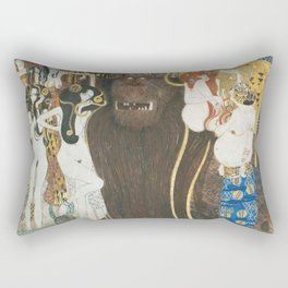 Beethoven Frieze Gustav Klimt Rectangular Pillow