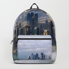 Doha Quatar Cityscape From Above The Clouds Ultra HD Backpack