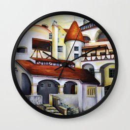 Dracula Castle - the interior courtyard Wall Clock