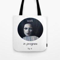 musa Tote Bags featuring Work in progress by e. - MusA by Michela Ezekiela Riba