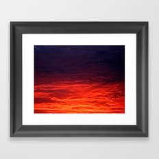 granular sunrise Framed Art Print