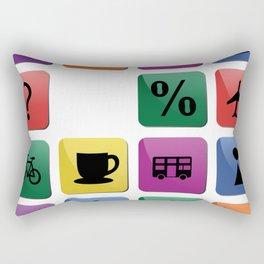 Tourist travel icon set Rectangular Pillow