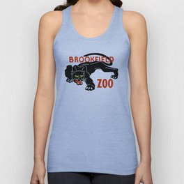 Black panther Brookfield Zoo ad Unisex Tank Top