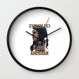 Proud Native American Wall Clock