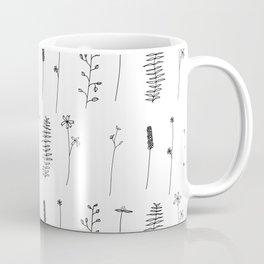 Minimal Flower Pattern Thin Line Dainty Coffee Mug