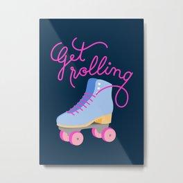 Get Rolling (Navy Background) Metal Print