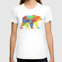 glitch T-shirts featuring Fractal Geometric bear by Picomodi