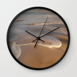 Gentle Waves on Beach Wall Clock
