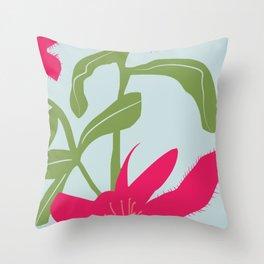 Spider lily flower minimalist Throw Pillow