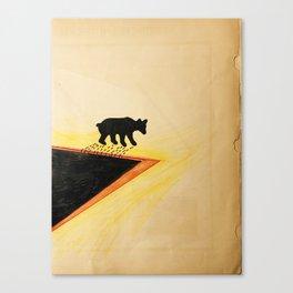 White Bear After Black gold Bath   Canvas Print