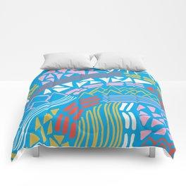 cascade, abstract terrain Comforters