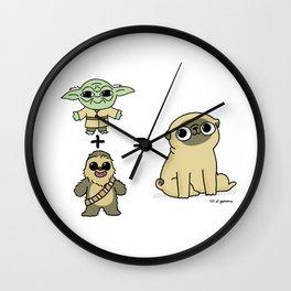 The origin of pugs Wall Clock