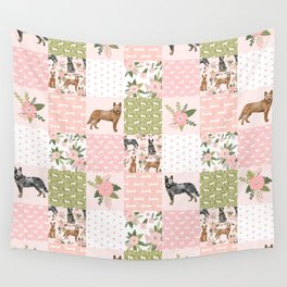 Australian Cattle Dog cheater quilt pattern dog lovers by pet friendly Wall Tapestry