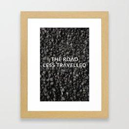 The road less travelled Framed Art Print