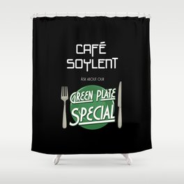Soylent Cafe's Green Plate Special Shower Curtain
