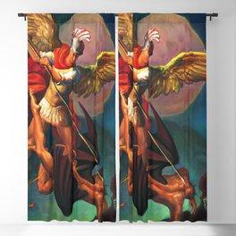 Saint Michael the Warrior Archangel Blackout Curtain