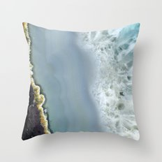 Blue Agate II Throw Pillow