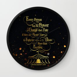 Caraval - Change Your Fate Wall Clock