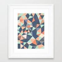 southwest Framed Art Prints featuring Southwest Tris by Beth Thompson
