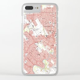 Lafayette Louisiana Map (1983) Clear iPhone Case