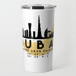 DUBAI UNITED ARAB EMIRATES SILHOUETTE SKYLINE MAP ART Travel Mug